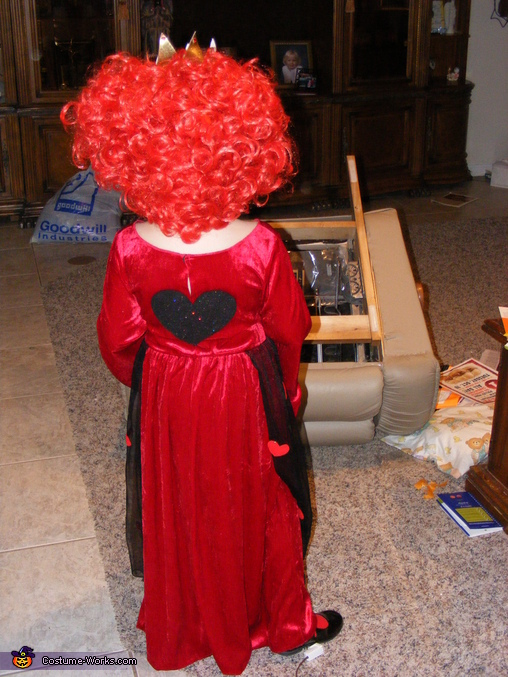 Red Queen' back, Alice in Wonderland Red Queen Costume