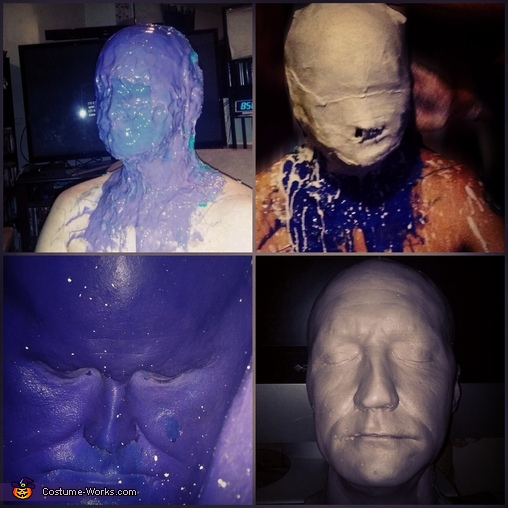 The bust mold to base the mask off of, The Scarecrow Costume