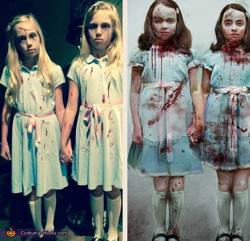 Side by side, The Shining Twins Costumes