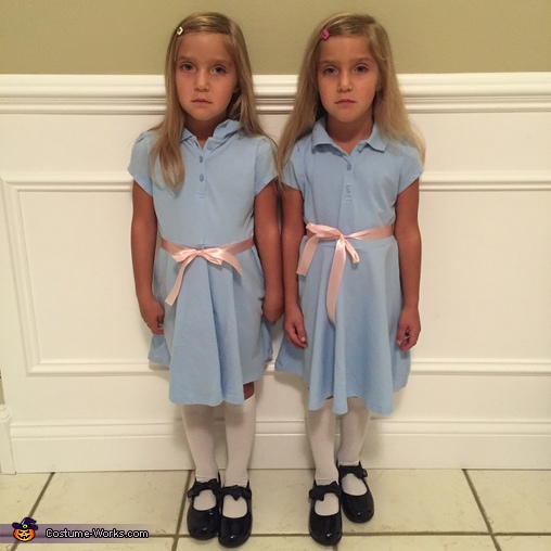 Up close, The Shining Twins Costume