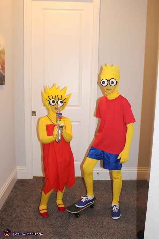 Bart & Lisa, The Simpsons Costume