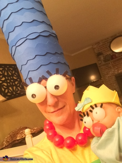 Marge and Maggie, The Simpsons Family Costume