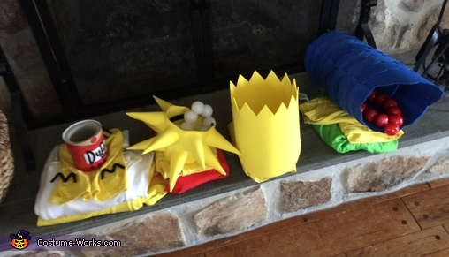 Costume pieces, The Simpsons Family Costume