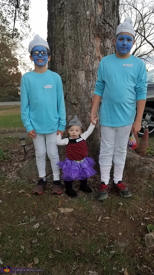 Brainy, Vexy and Grouchy, The Smurf Family Costume