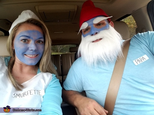 Papa Smurf and Smurfette, The Smurf Family Costume