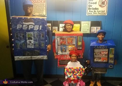 The Snack Machine Family Costume