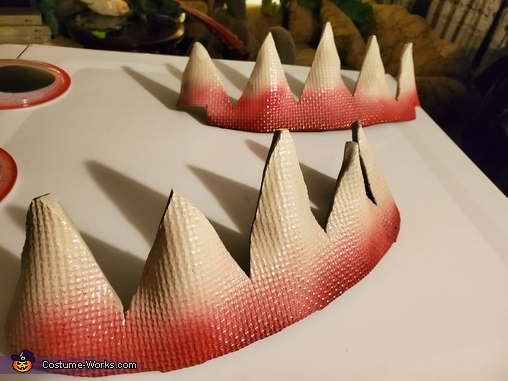 Shark style teeth, The Sock Eating Dryer Costume