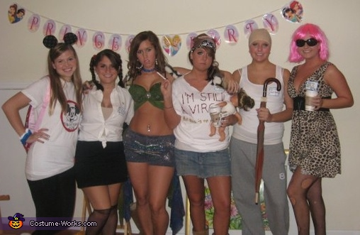 The Stages of Britney Spears Group Costume