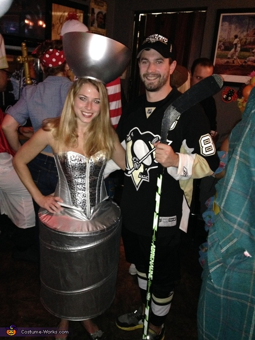 The Stanley Cup and Pittsburgh Penguins Player Costume