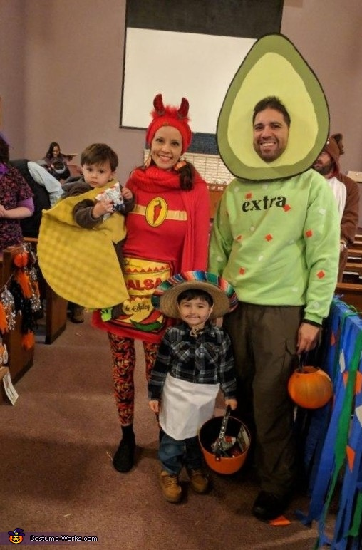 The Taco Family out trick or treating!, The Taco Family Costume