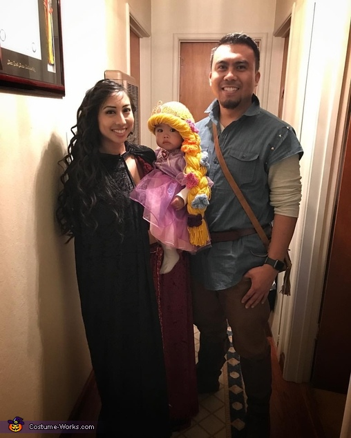 Mother Gothel, Princess Rapunzel, and Flynn Rider, The Tangled Family Costume