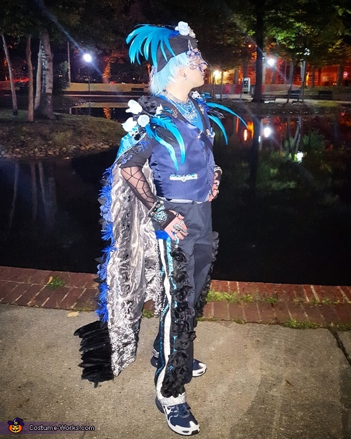 Posing by a pond, The Tidal Dandy Costume