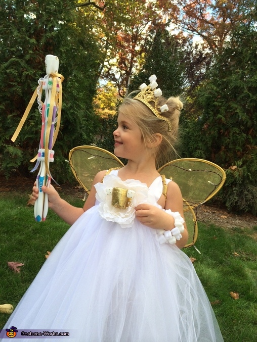 Loving her toothbrush wand!, The Tooth Fairy Costume