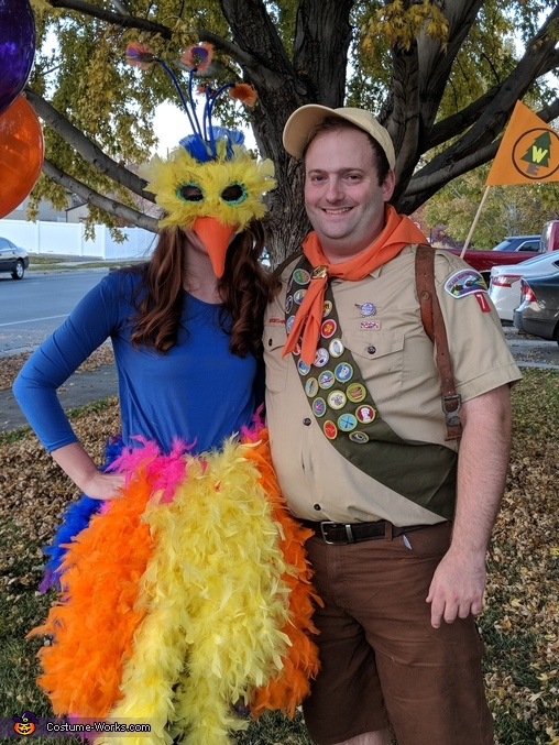 """Close-up of me and my husband, The """"Up"""" Family Costume"""