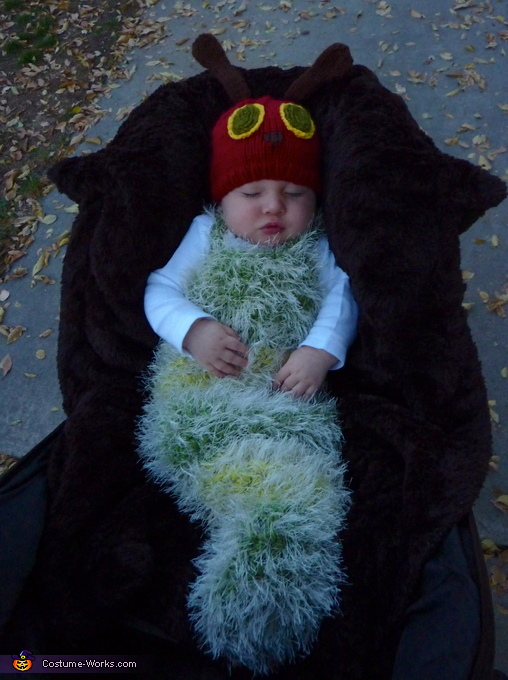 Trick or treating with my big brothers!, The Very Hungry Caterpillar Costume