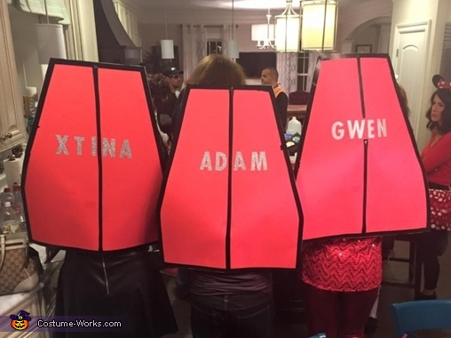 Xtina Adam and Gwen from the Voice, The Voice Costume