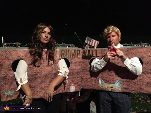 The Wall by Donald and Melania Costume