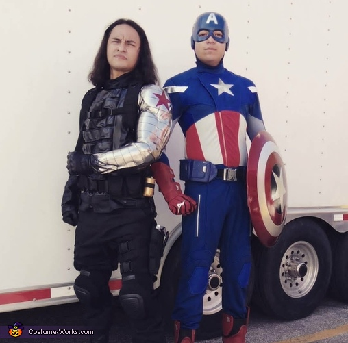 The Winter Soldier and Captain America Costume