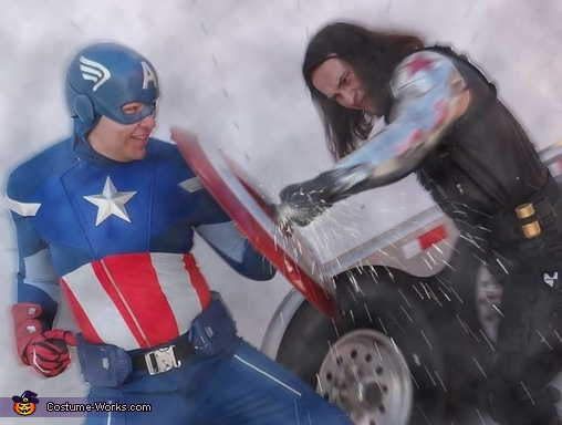 Fight edit, The Winter Soldier and Captain America Costume