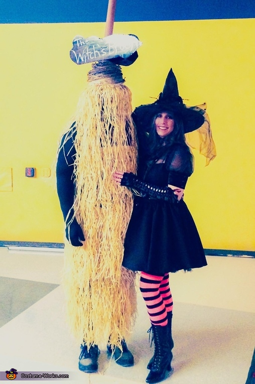 The Witch and her Broom Homemade Costume