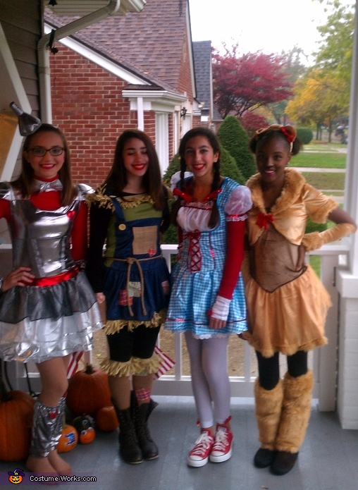 group costume ideas the wizard of oz halloween costumes