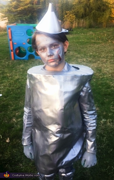 Maddie as Tinman, The Wizard of Oz Costume