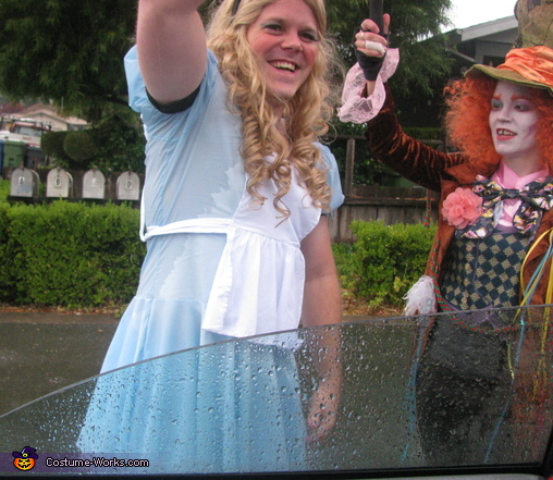 It rained..., Alice in Wonderland and Mad Hatter Costume