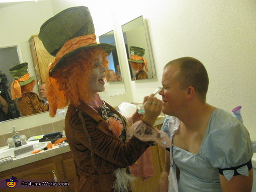 Having a blast., Alice in Wonderland and Mad Hatter Costume