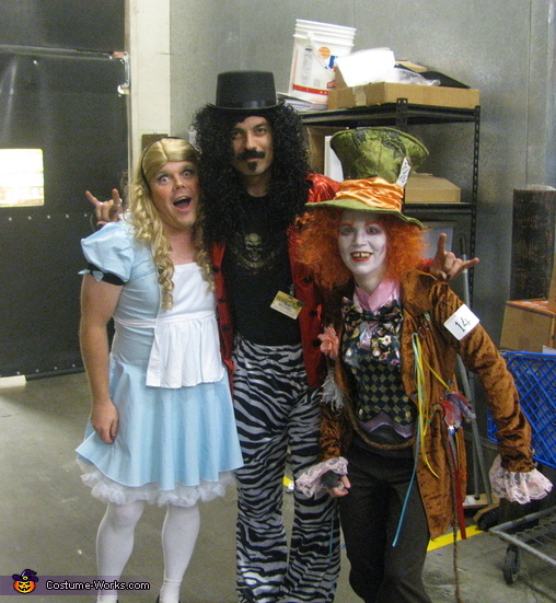 Another store worker wanted a picture with us., Alice in Wonderland and Mad Hatter Costume