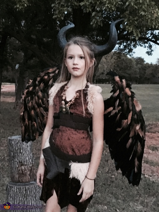 The Young Maleficent Homemade Costume