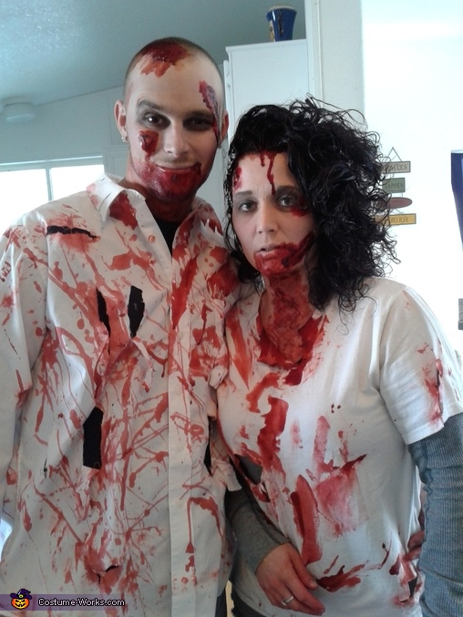 my husband and me, The Zombie Clan Family Costume