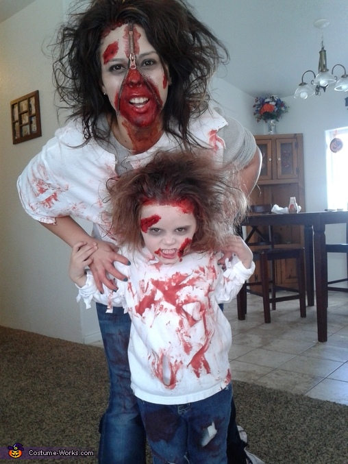 my niece and daughter, The Zombie Clan Family Costume