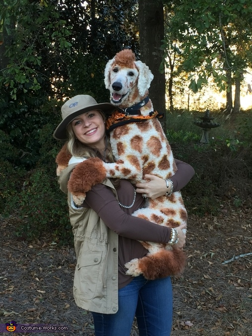The ZooKeeper and her Giraffe Costume