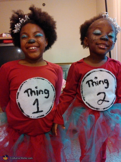 Thing 1 &Thing 2 Homemade Costume
