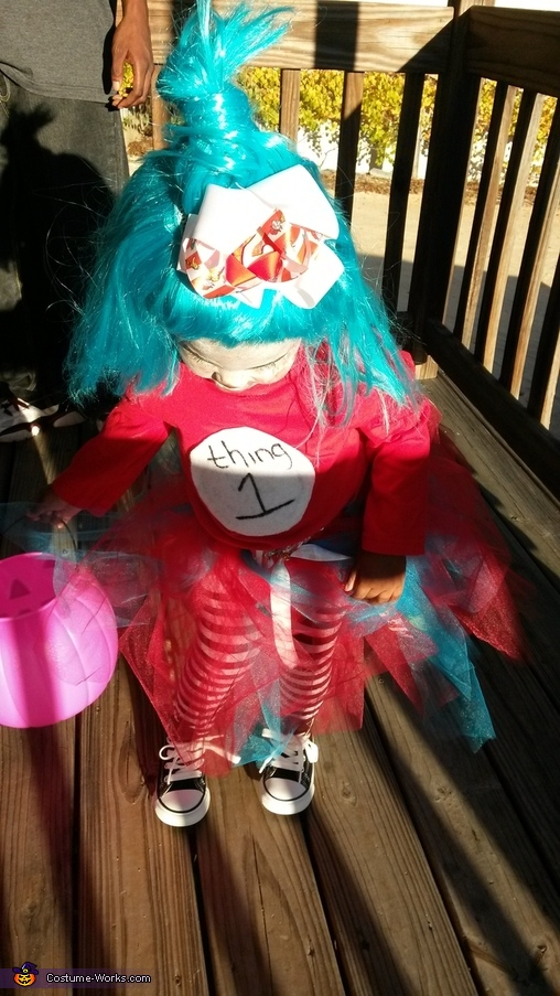 Thing 1 Homemade Costume
