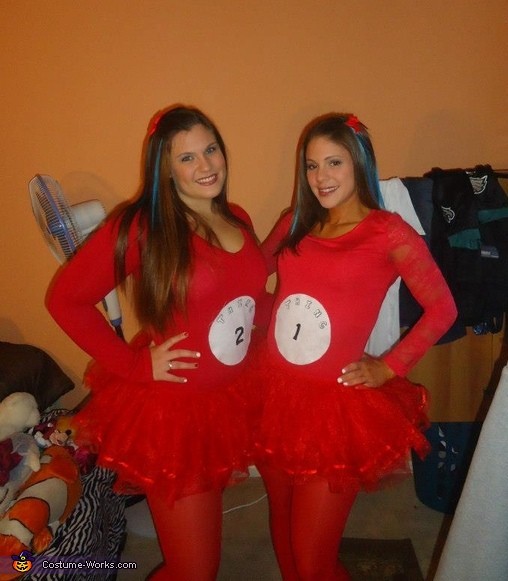 thing one and this two , Thing 1 and 2 with the Cat in the Hat Costume
