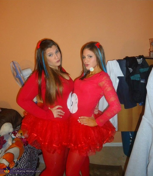 Thing 1 and 2 with the Cat in the Hat Costume