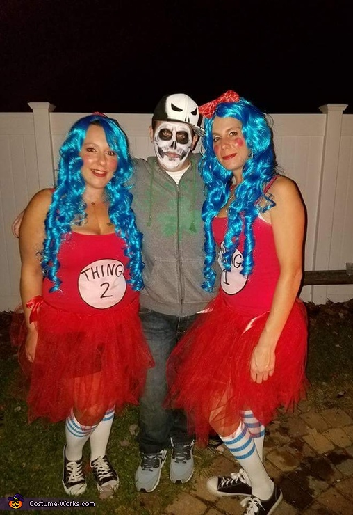 Thing 1 and Thing 2 Homemade Costumes