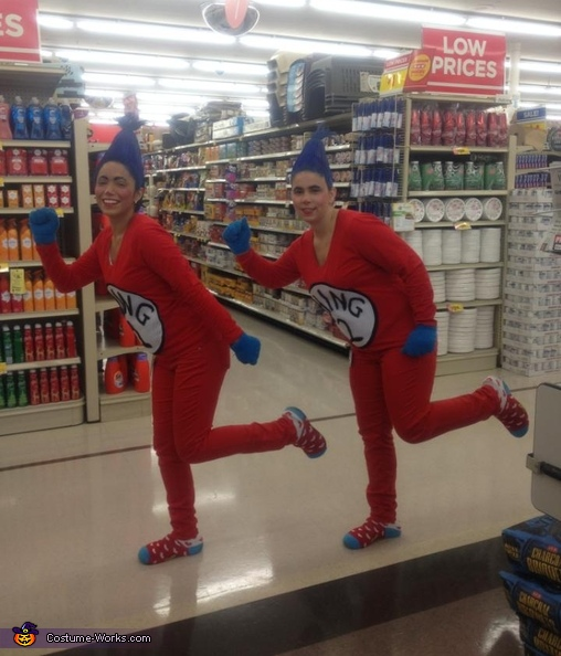 thing 1 and thing 2 costume - Thing 1 Thing 2 Halloween Costume