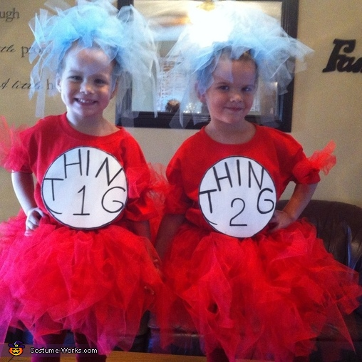 thing 1 thing 2 costume - Thing 1 Thing 2 Halloween Costume