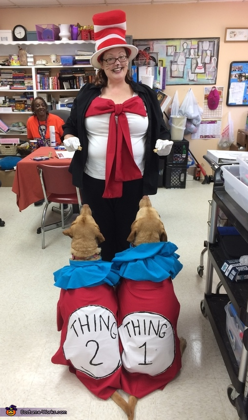 Thing 1 & 2 Dogs Costume