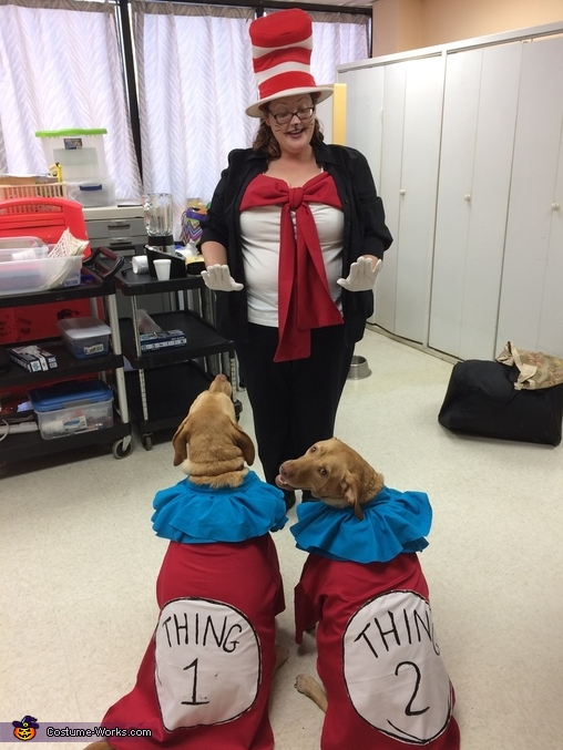 Thing 1 & 2 and the Cat in the Hat, Thing 1 & 2 Dogs Costume