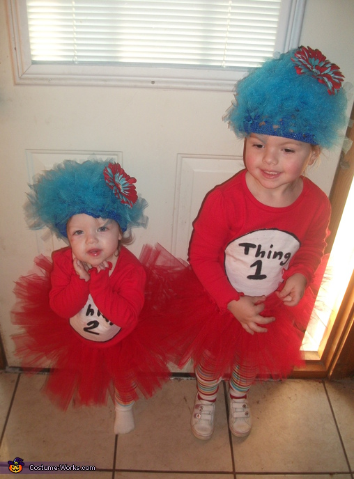 Thing 1 & Thing 2 - Homemade costumes for babies