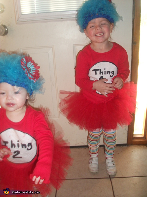 Here they are again.... Thing 1 & Thing 2 - Homemade costumes for babies