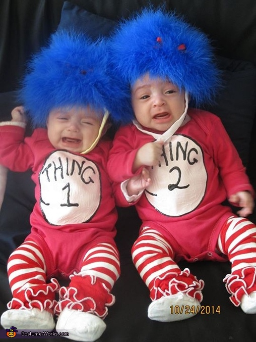 Thing 1 Amp Thing 2 Baby Twins Costume