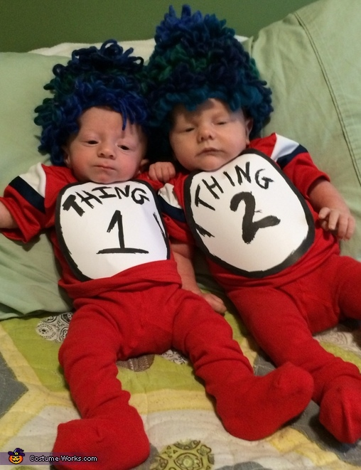 Thing 1 & Thing 2 Twin Babies Costume