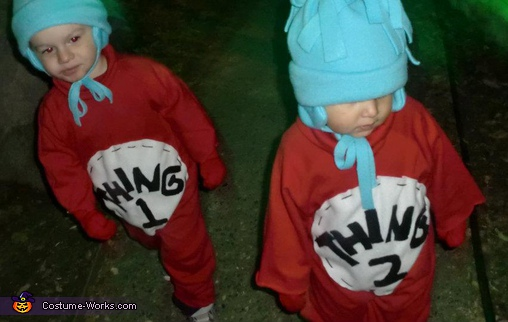 Thing 1 & Thing 2 - Homemade costumes for boys
