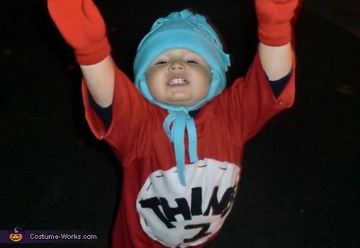 Homemade Thing 1 & Thing 2 costume