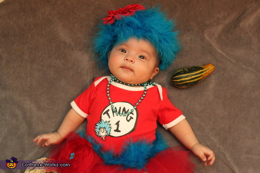 Jacqueline as Thing 1, Thing 1 & Thing 2 Infant Costumes