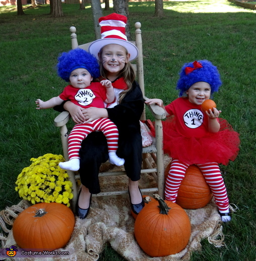 Cat in the Hat, Thing 1 and Thing 2 Costume